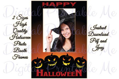 "Photo Booth Frame Halloween Background Backdrop Prop 36""x24"" 30"" x 20"""