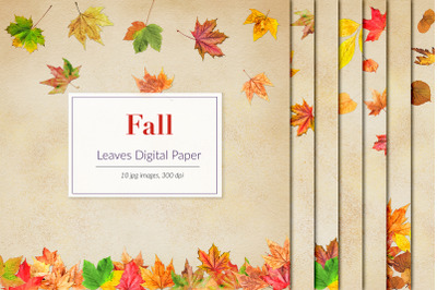Watercolor Fall Digital Paper