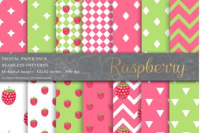 Raspberry Fruit Digital Papers