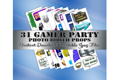 Video Game Photo Booth Prop, Gamer Party, Decoration, Birthday, INSTAN