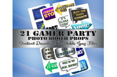 Video Game Photo Booth Prop, Gamer Party, Decoration, Birthday, photo