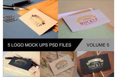 Photo Realistic Mock-ups Set of 5 V5