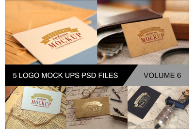 Photo Realistic Mock-ups Set of 5 V6