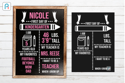 First Day of School Svg, Back to School Svg, Chalkboard Svg