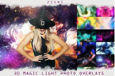30 Magic photo overlays halloween bokeh space