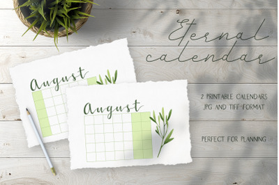 Eternal  printable calendar 2020