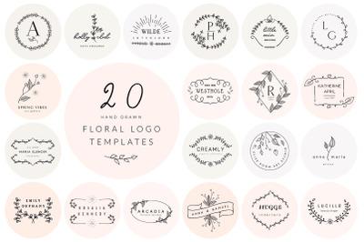 20 Floral Logo Templates