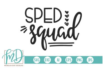 SPED Squad SVG