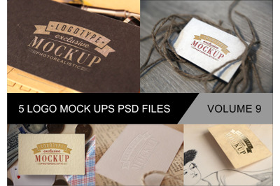 Photo Realistic Mock-ups Set of 5 V9
