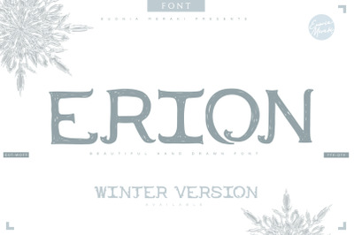 4in1 ERION FONT (Christmas Winter Version)
