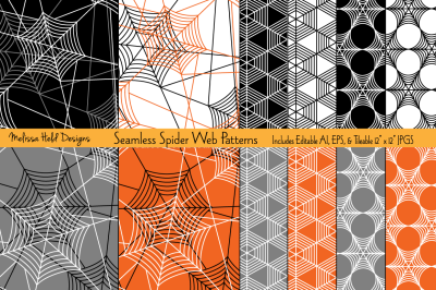 Seamless Spider Web Patterns