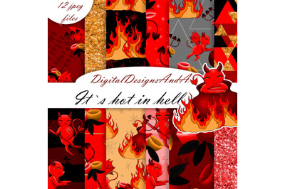 Devil seamless patterns