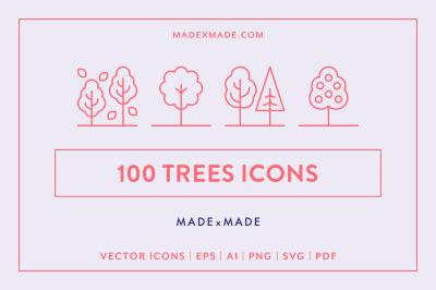 Line Icons - Trees