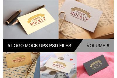 Photo Realistic Mock-ups Set of 5 V8