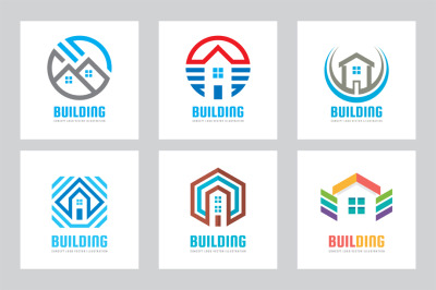 Building House Vector Logo Set