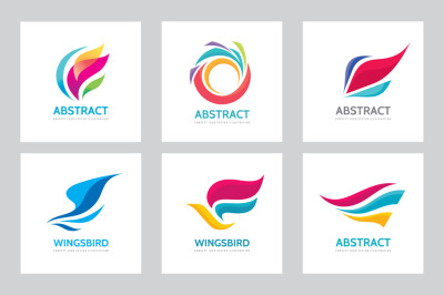 Abstract Design Vector Logo Set