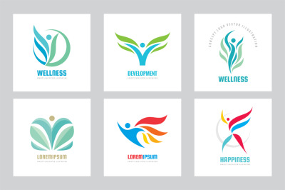 Wellness Health Nature - Logo Set