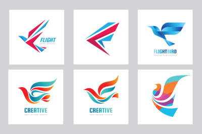 Bird & Wing - Vector Logo Set
