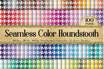 100 Seamless Color Houndstooth Father Day Digital Papers