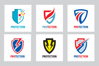 Protection Guard Shield Logo Set