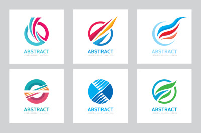 Abstract Circle Vector Logo Set