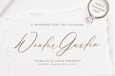 Wonder Garden   Latin and Cyrillic Font