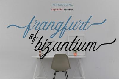 frangfurt of bizantium font