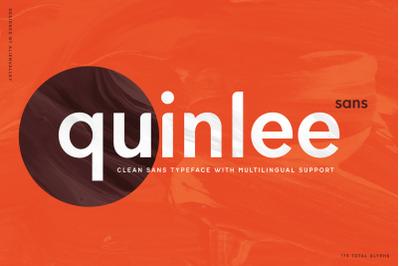 Quinlee - Versatile Sans Serif Font