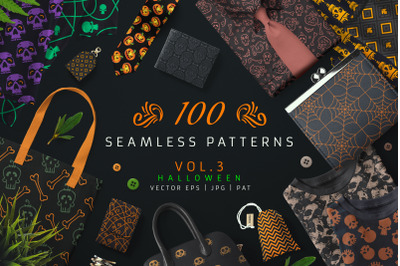 100 Seamless Patterns Vol.3 Halloween