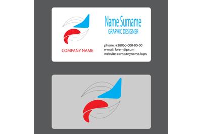 Business card logo whirlpool branding