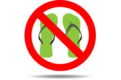 Ban flip flops