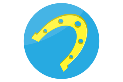 Horseshoes gold lucky icon