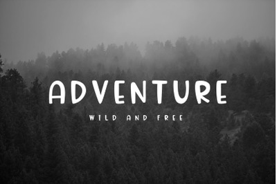 Adventure Font and Camping Pack