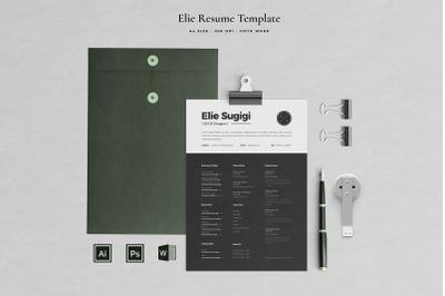 Elie Resume Template