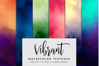 Vibrant Watercolor Texture Pack