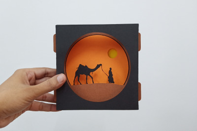 DIY Camel safari Card - 3d papercraft