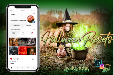 Halloween lightroom presets dng mobile pc autumn horror