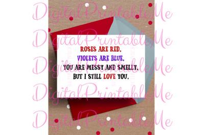 Funny Valentine's day Card, Anniversary Card,  Printable love, rude va