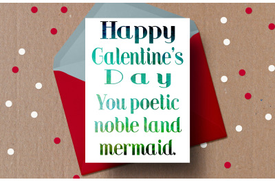 Galentine's Day Card, valentines card, Bff valentine, poetic and noble