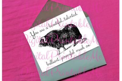 Galentine's Day Card, valentines card, encouragement card, powerful mu