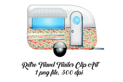 Retro Travel Trailer Clip Art