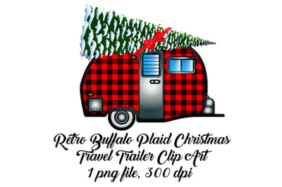 Buffalo Plaid Travel Trailer