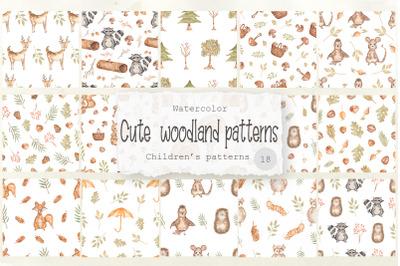 Cute woodland patterns