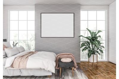 Interior scene - artwork background - frame mockup
