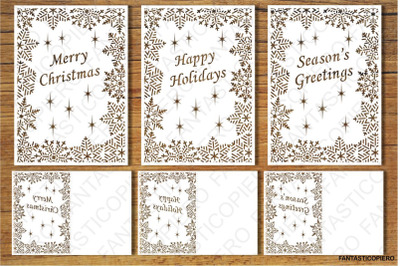 Merry Christmas, Greeting Card SVG files.