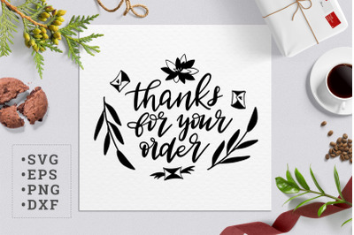 Thanks for your order SVG