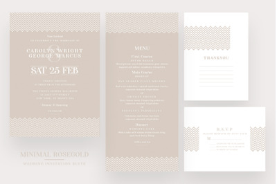 Minimal Rosegold Wedding Suite