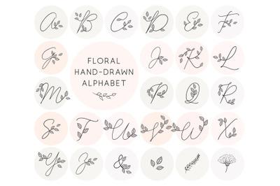 Floral Doodle Alphabet