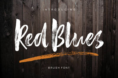 Red Blues Brush Font