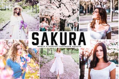 Sakura Mobile & Desktop Lightroom Presets